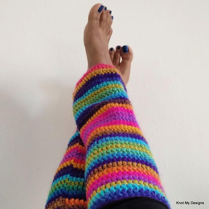 Crochet Rainbow Shaded Leg Warmer