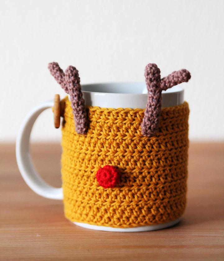 Crochet Reindeer Mug Cozy Pattern