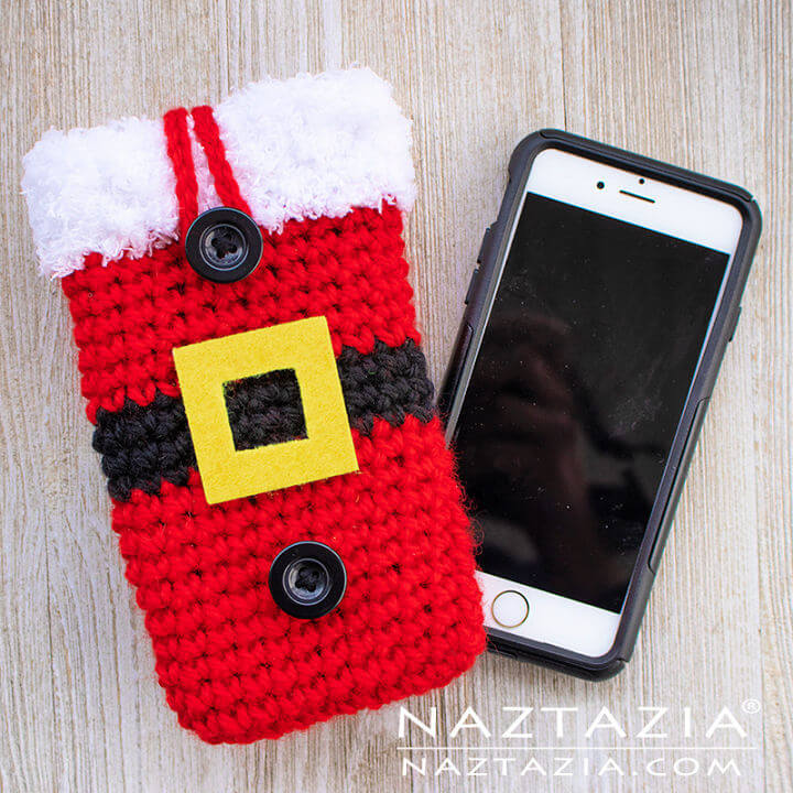 Crochet Santa Cell Phone Case