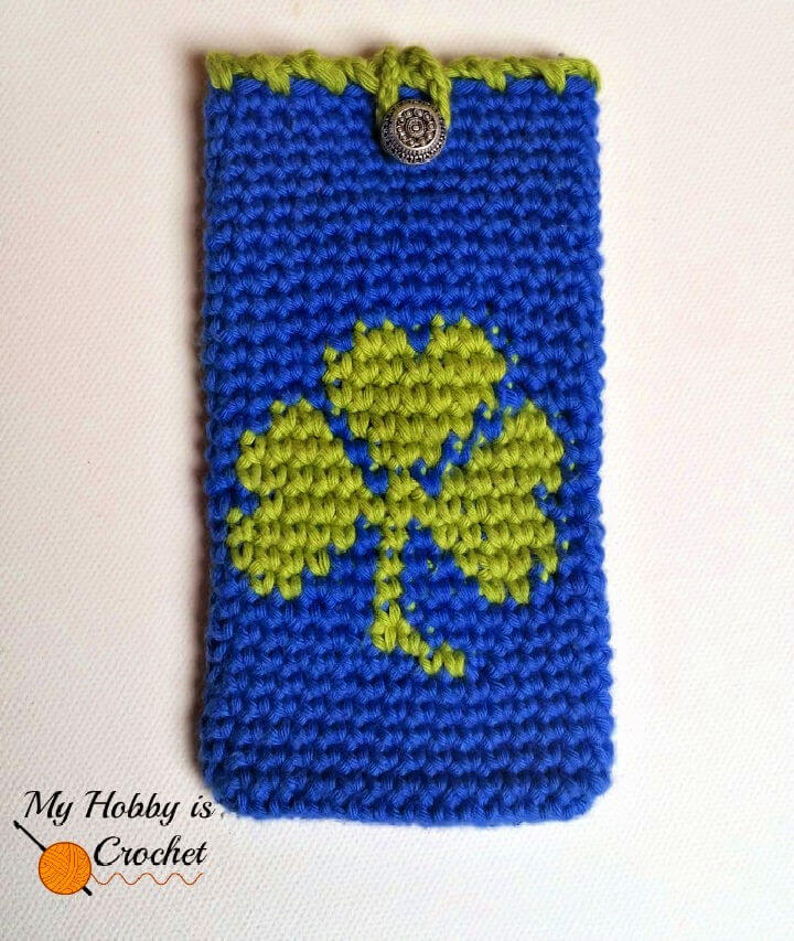 Crochet Shamrock Phone Cover