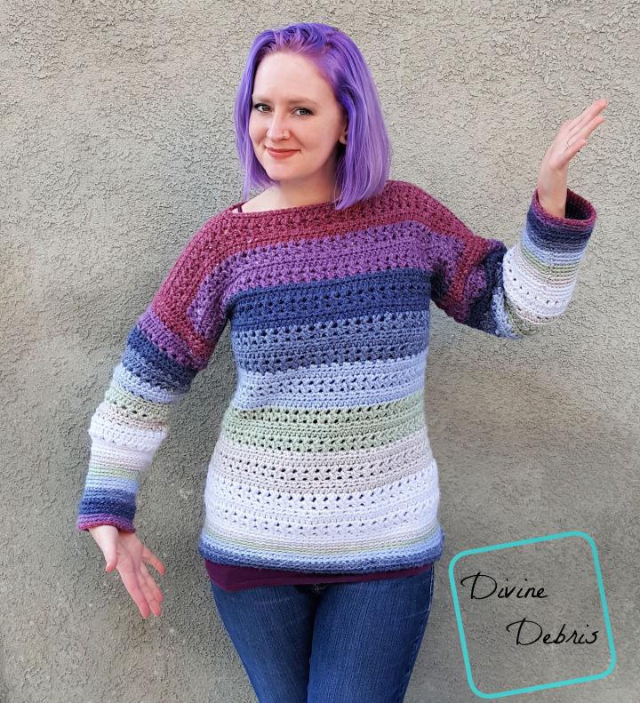Crochet Sherbet Sweater Pattern