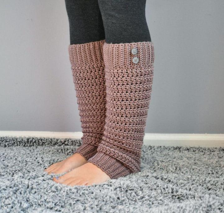 Crochet Slouchy Legwarmers Free Pattern