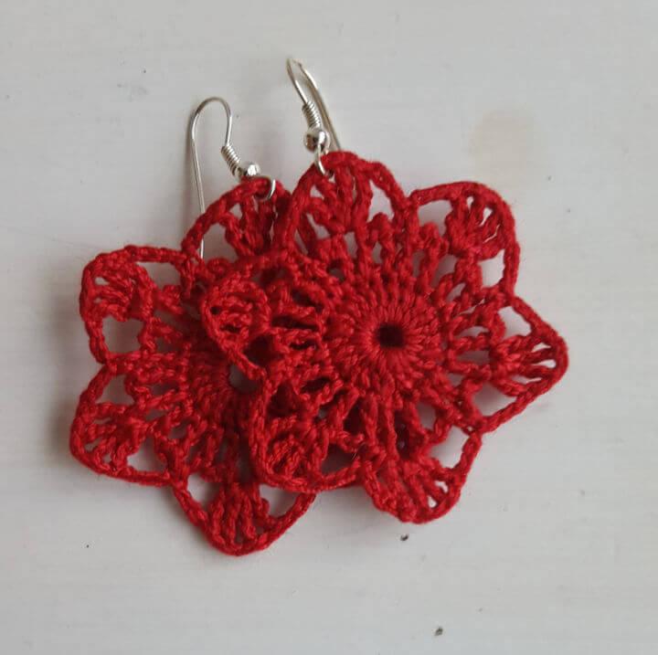 Crochet Starflower Earrings Pattern