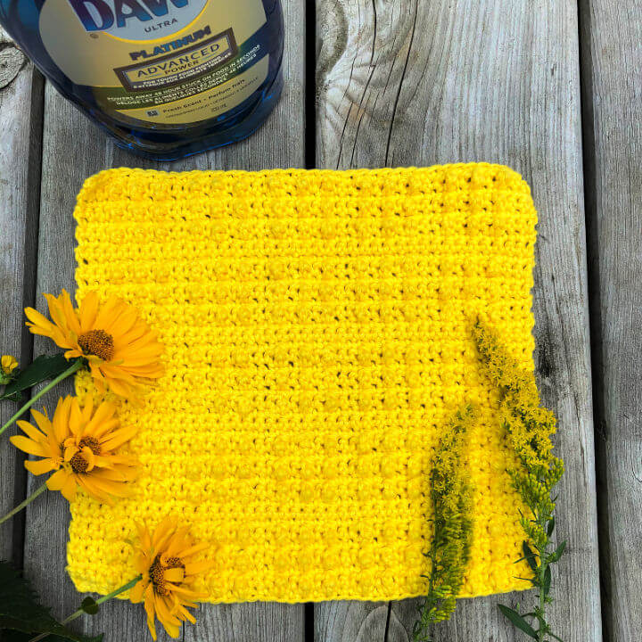 Crochet Studded Dishcloth Pattern