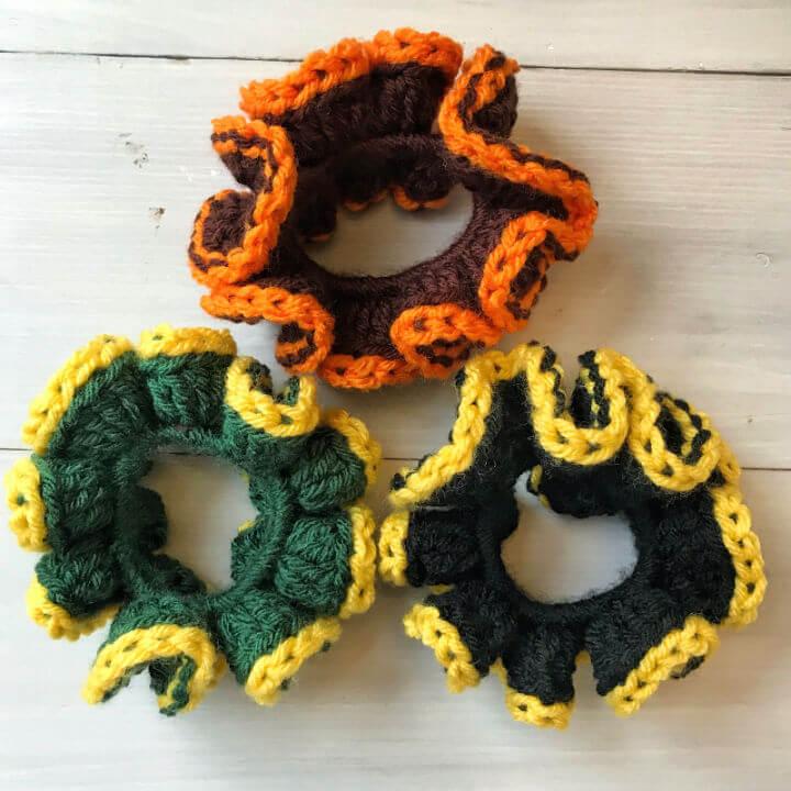 Crochet Team Spirit Scrunchie