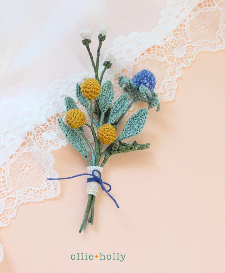 Crochet Tiny Flower Bouquet Pattern