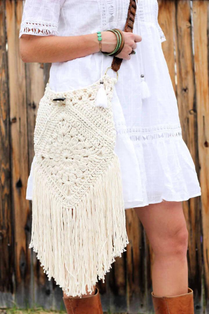 Crochet Urban Nomad Boho Bag