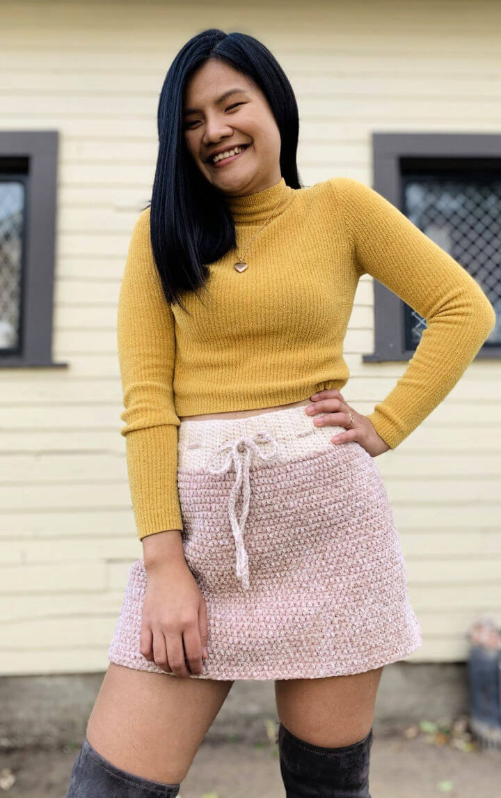 Crochet Velvet Skirt Pattern