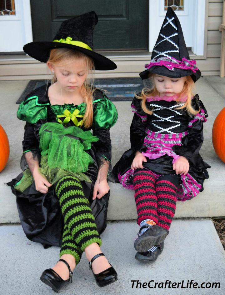 Crochet Witch Stocking Leg Warmers
