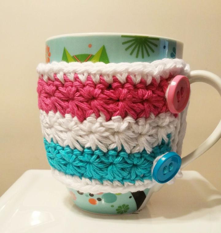 Crochet Wrapped in Stars Mug Cozy