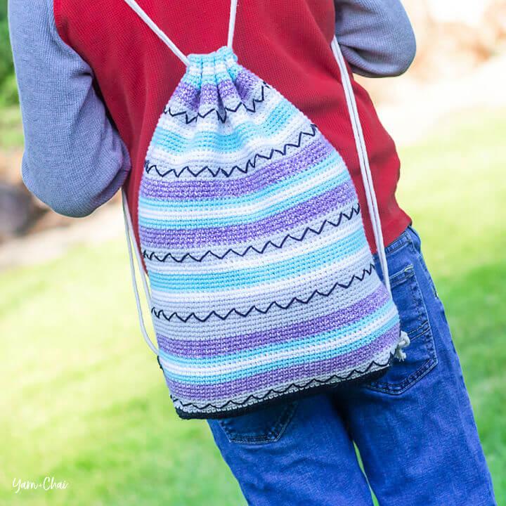 Crochet Zig Zag Bag Pattern