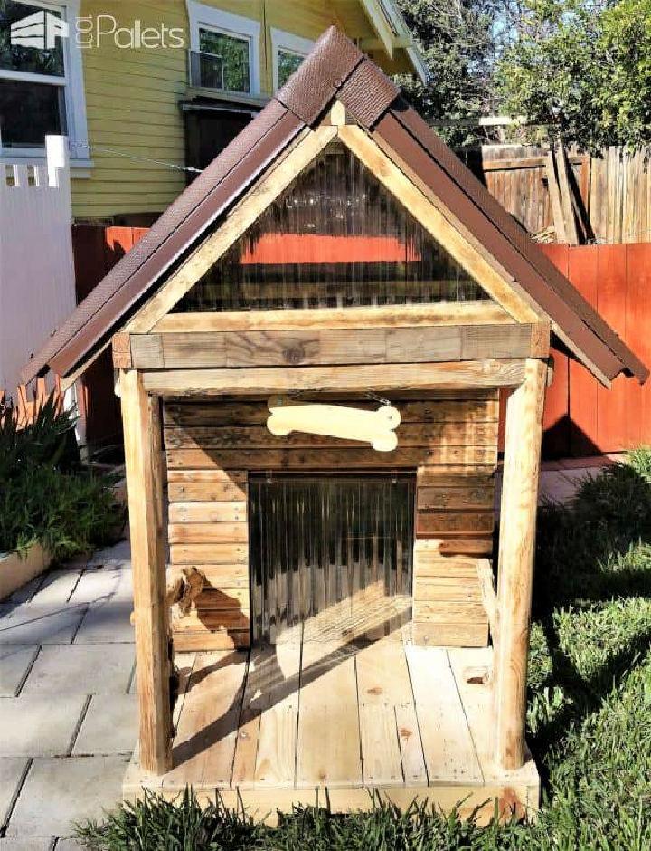 Custom Large Pallet Dog House
