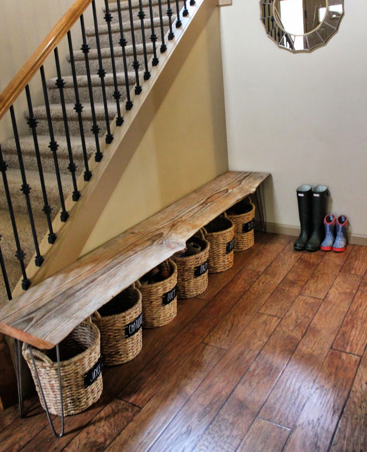 DIY Bench and Shoe Storage