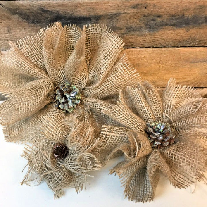 DIY Burlap Flowers