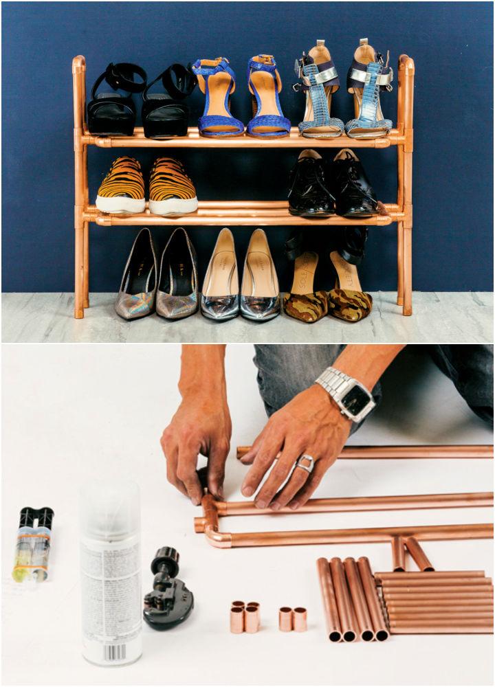 DIY Copper Shoe Rack