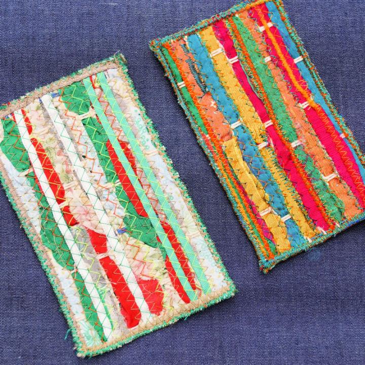 DIY Fabric Scrap Weaving