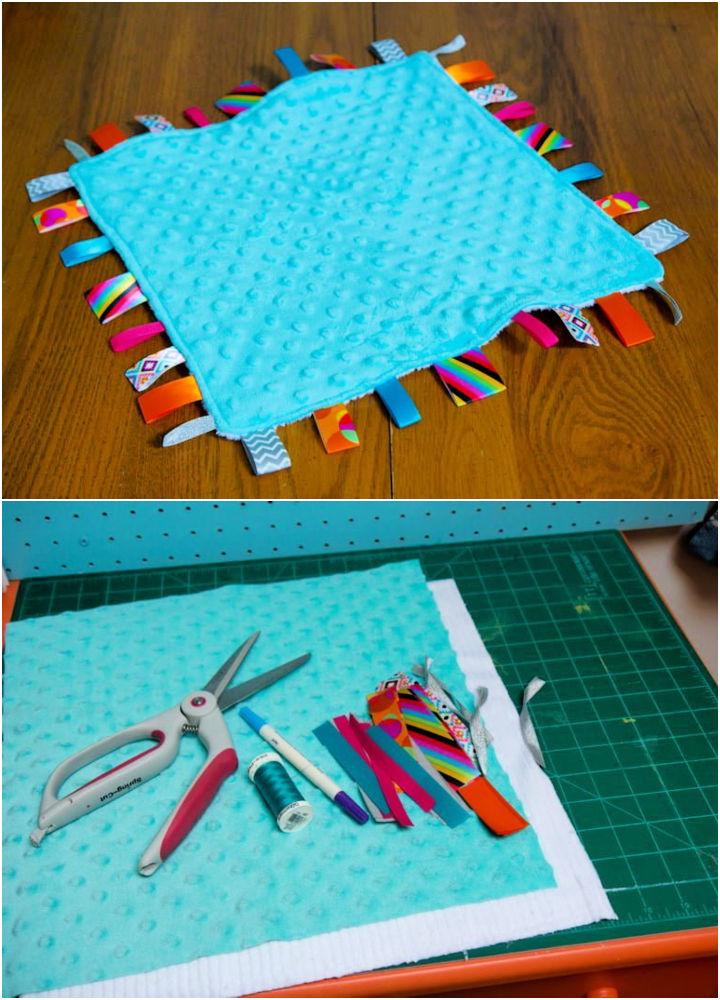 DIY Lovey Tag Blanket