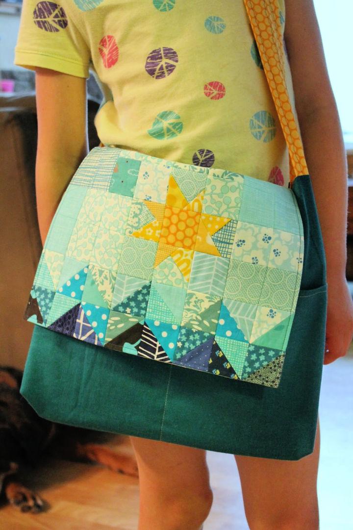 DIY Patchwork Messenger Bag