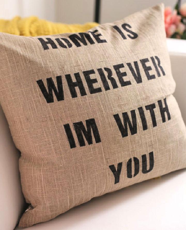 DIY Quote Pillow Case