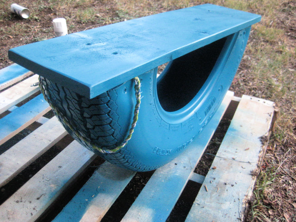 DIY Recycled Tire Rocker