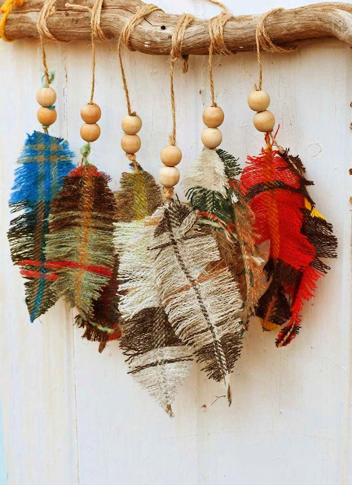 DIY Scrap Fabric Feathers