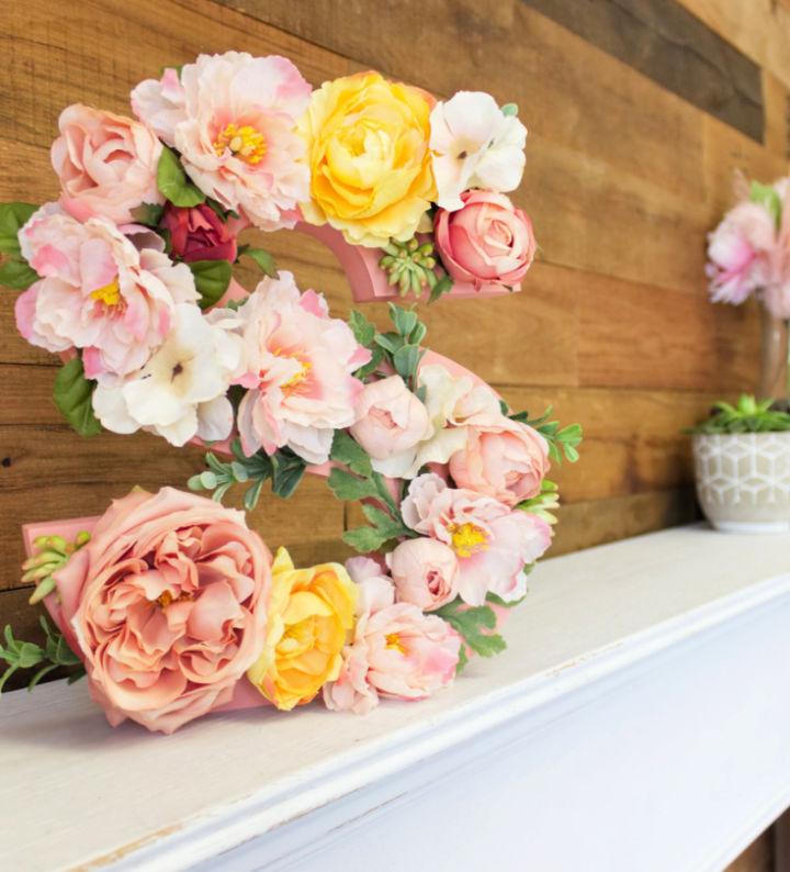 DIY Standing Floral Letter