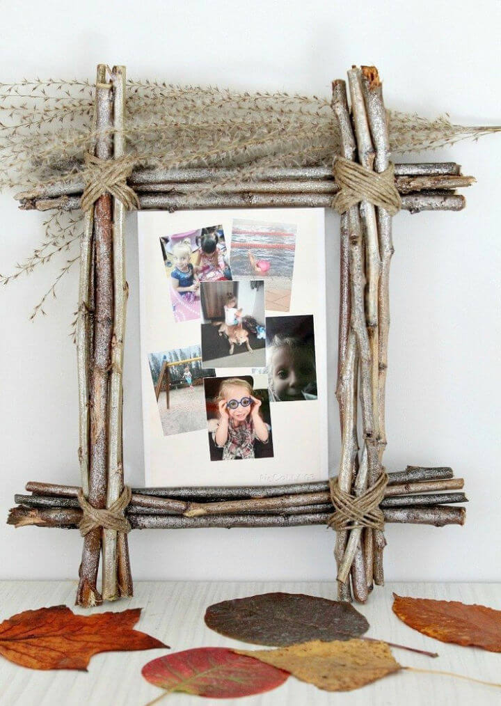DIY Twig Picture Frame Decorate