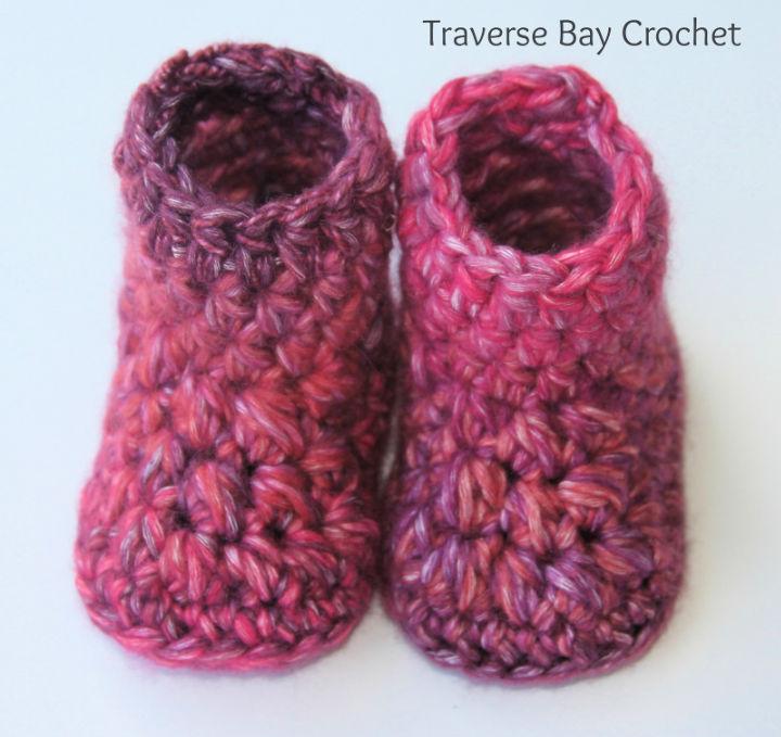 Delila Crochet Baby Booties Pattern
