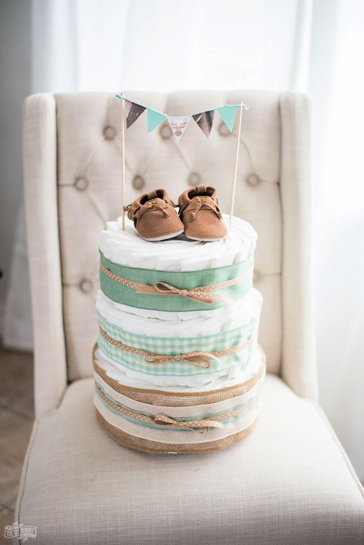 Diaper Cake Baby Shower Gift for Mom
