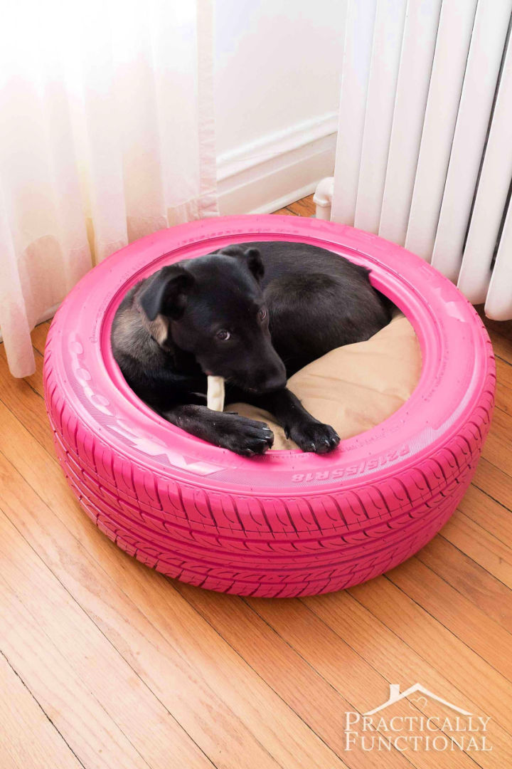 Dog Bed from Recycled Tire