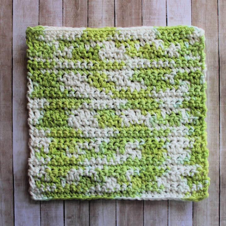 Double Crochet Lemon Peel Stripe Dishcloth