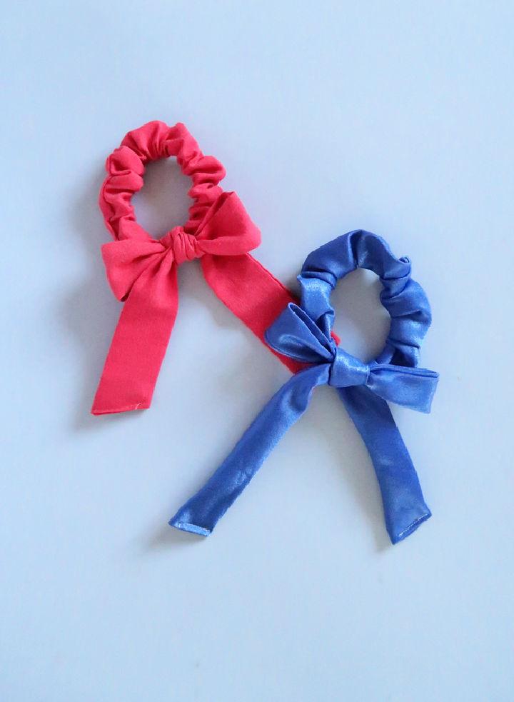 Draped Bow Scrunchies
