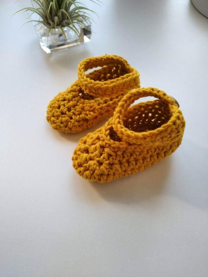 Easy Crochet Baby Shoes for Beginner