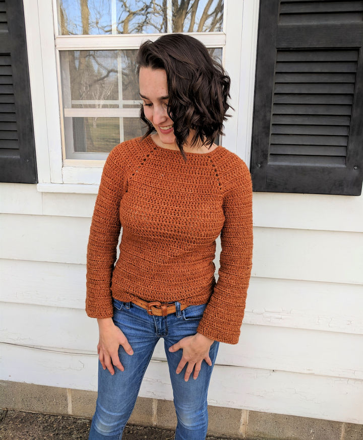 Easy Crochet Raglan Sweater for Beginner