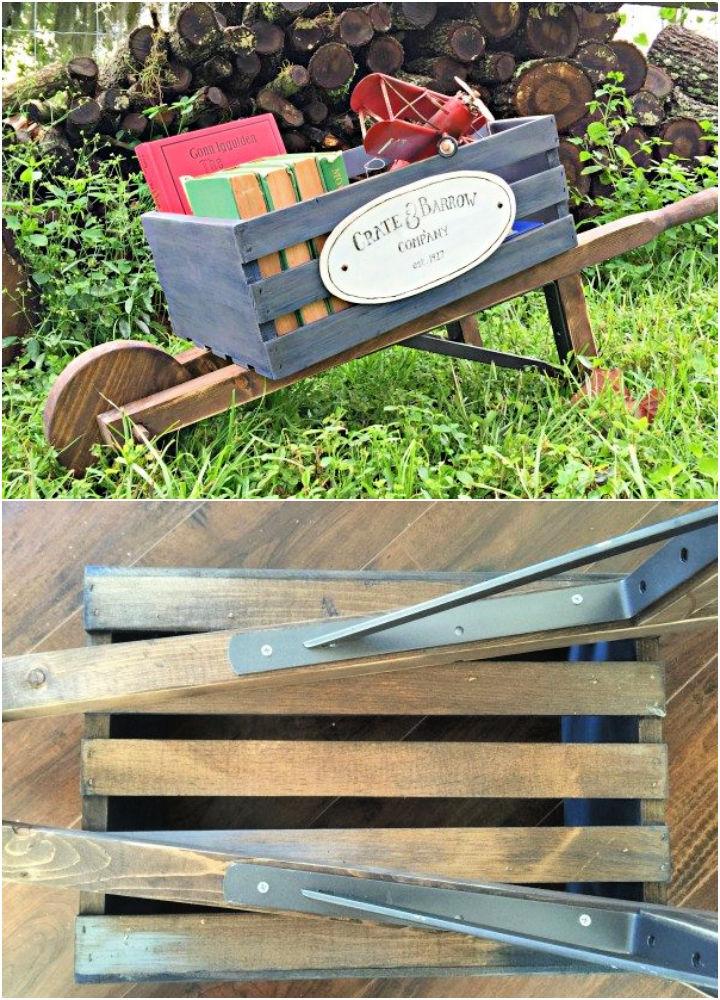 Easy DIY Rustic Wheelbarrow