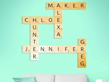 Easy DIY Scrabble Wall Art
