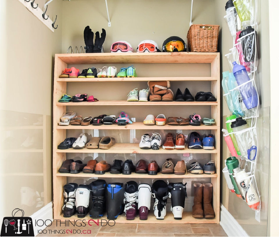 Easy to Make Sized Shoe Rack