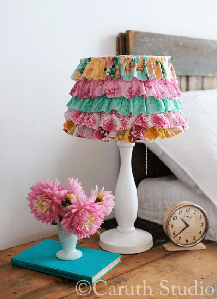 Fabric Scrap Lampshade