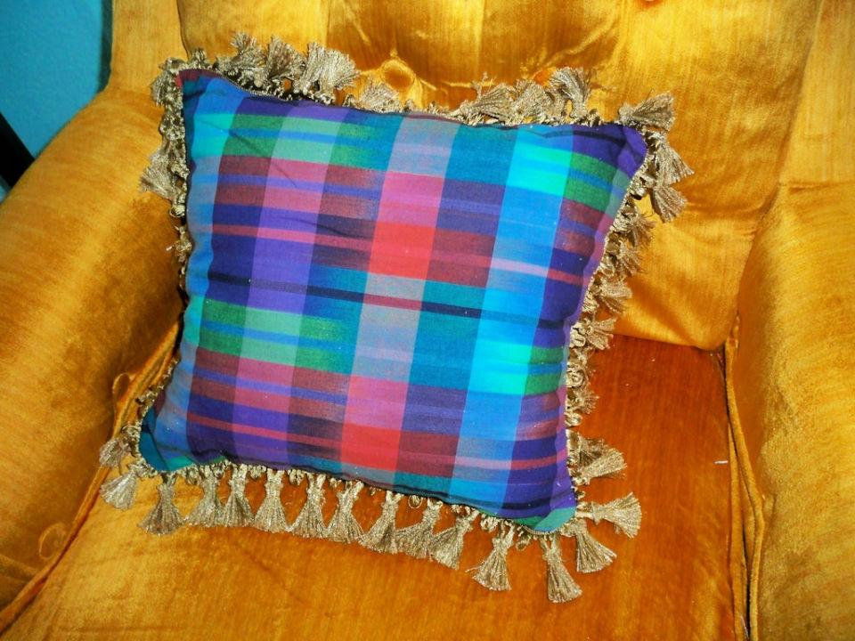 Fabric Scrap Throw Pillow
