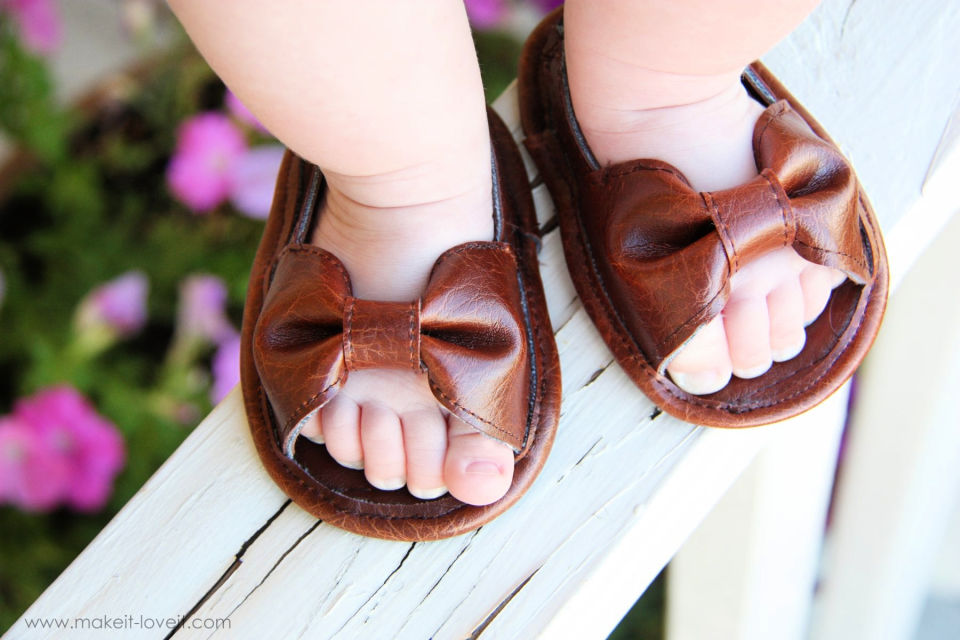 Faux Leather Sandal for 1 Year Old Baby Girl