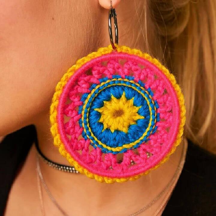 Festival Crochet Earrings Pattern