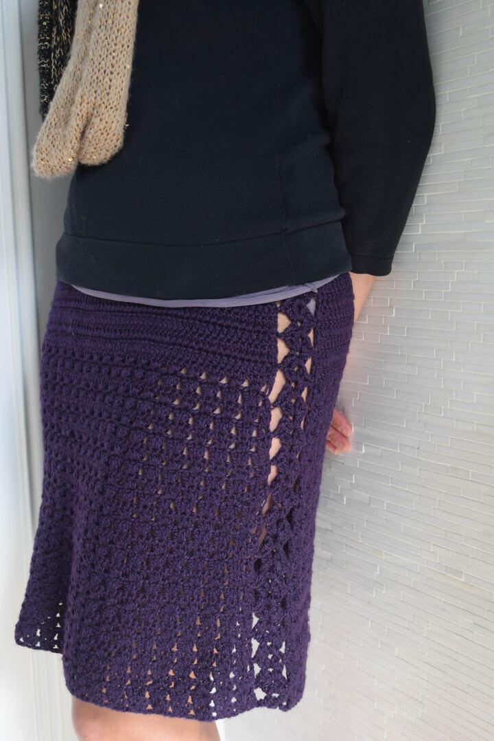 Flirty Marvel Crochet Skirt