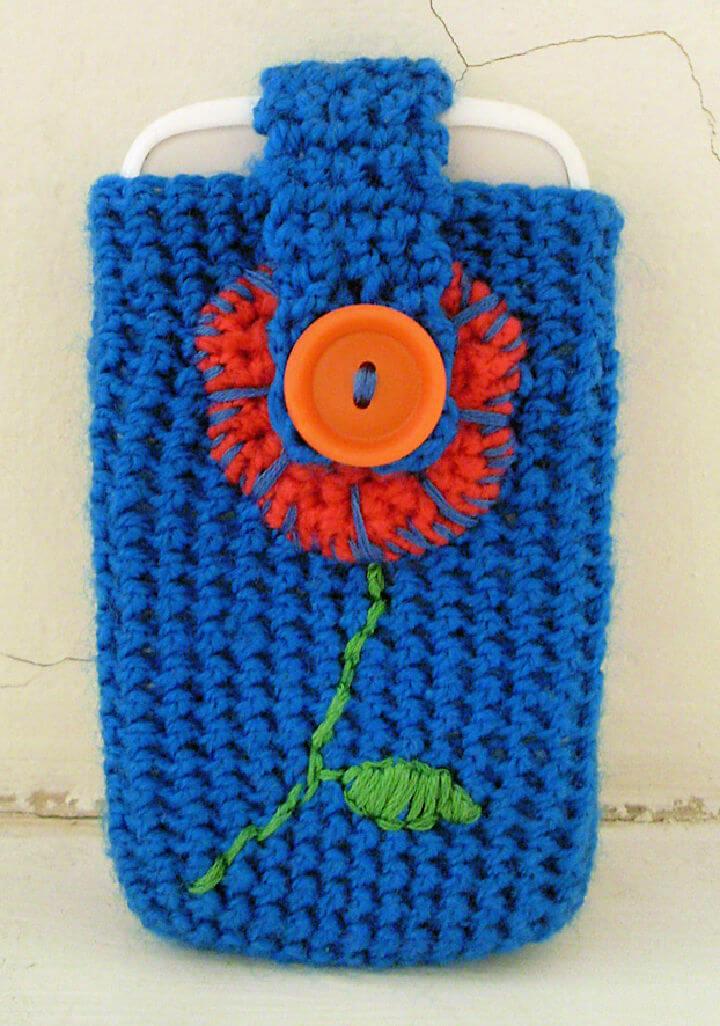 Flower Phone Case Crochet Pattern