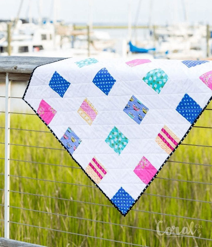 Four Square Baby Quilt Pattern