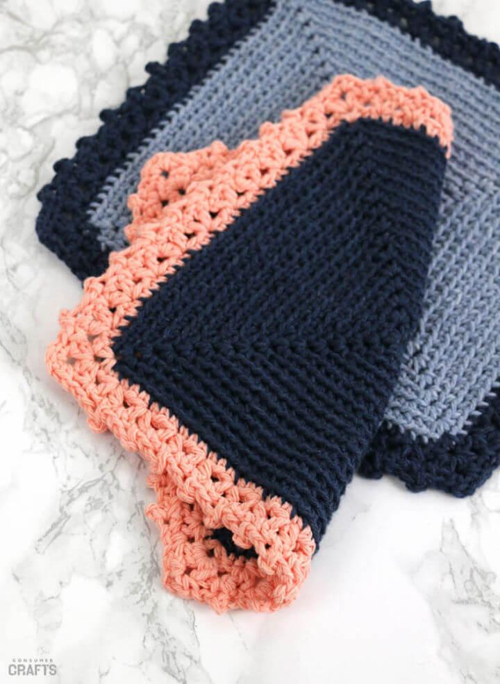 Free Cottage Dishcloth Crochet Pattern