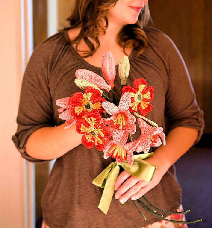 Free Crochet Flower Bouquet Pattern