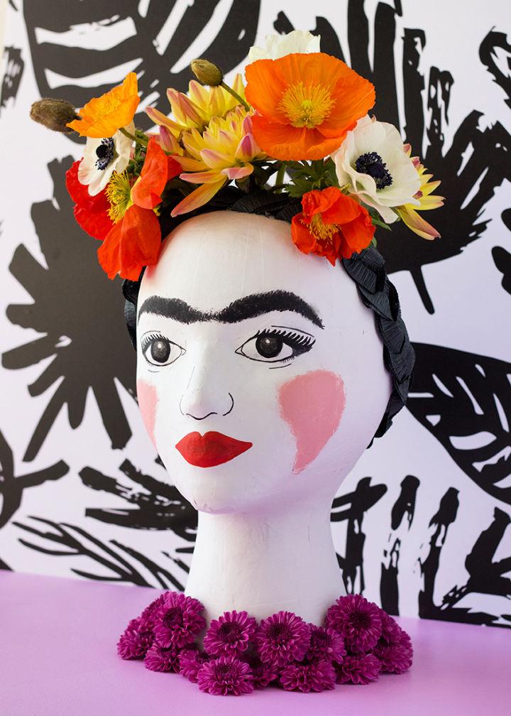 Frida Kahlo Head Vase