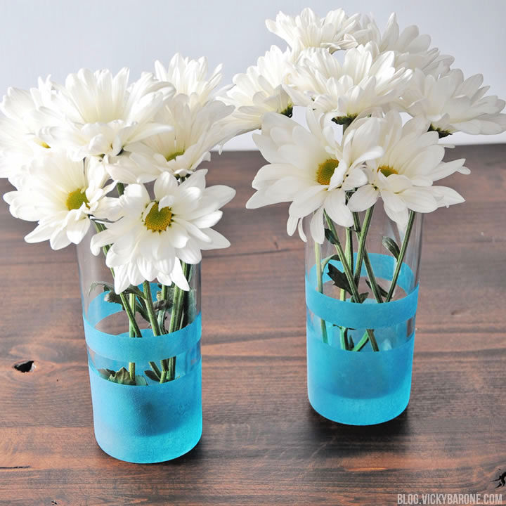Frosted Clear Glass Vase Decoration
