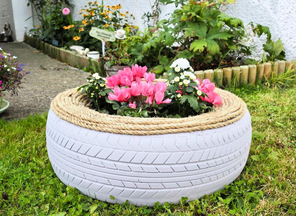 Garden Tyre Planter