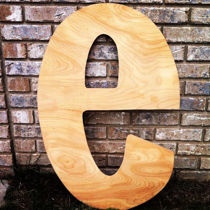 Giant Wooden Letter